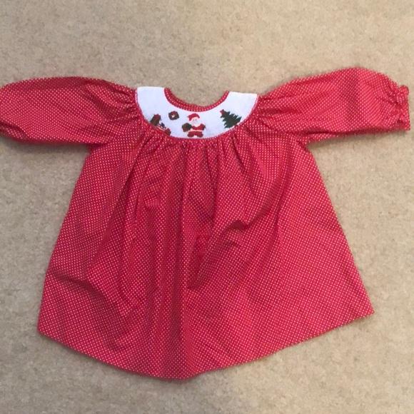 3b57b80d3b88 Vintage | Christmas Smocked Dress. M_5b6c6c659e6b5b792f1db645